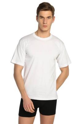 Tutku %100 Pamuk Sıfır Yaka Beyaz Erkek Fanila