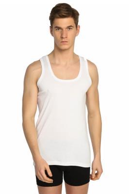 Tutku 6'lı Paket Ribana %100 Pamuk Erkek Beyaz Atlet
