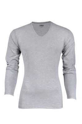 Yıldız 350 Likralı V Yaka Uzun Kollu Erkek Badi T-Shirt