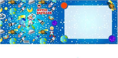 Karne Kılıfı Mutlu Tatiller Uzay Ve Yıldızlar 20 Adet