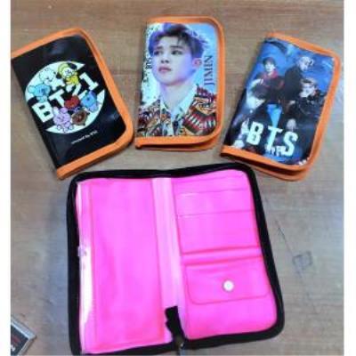 BTS Temalı Cüzdanlı Lux Kalem Kutu ( Kalemli