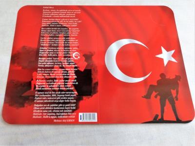 Çanakkale İstiklal Marşı Temalı Karne Kılıfı 20 Adet