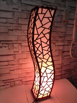 Lambader Modern Dalgalı Köşe Zemin Aydınlatma 100x20 cm