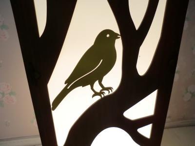 MDF Lambader Ağaçlı Kuşlu Model 100x20 cm