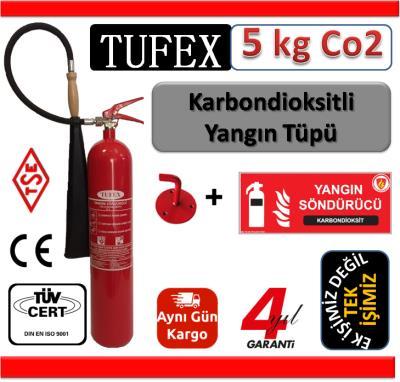 5 Kg Co2 (Karbondioksit) Yangın Söndürme Tüpü 4 Yıl Garanti+Askı