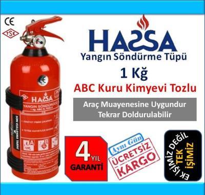 1 Kg Yangın Söndürme Tüpü ABC Tozlu - 4 YIL GARANTİ YENİ ÜRÜN