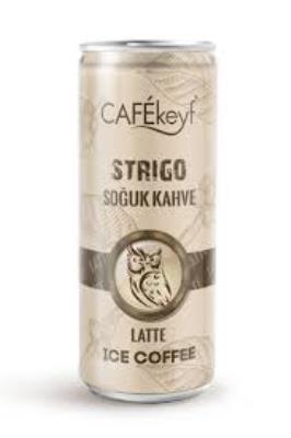 Cafekeyf Strigo Soğuk Kahve Latte (250 ml Slim Kutu 12 ADET)