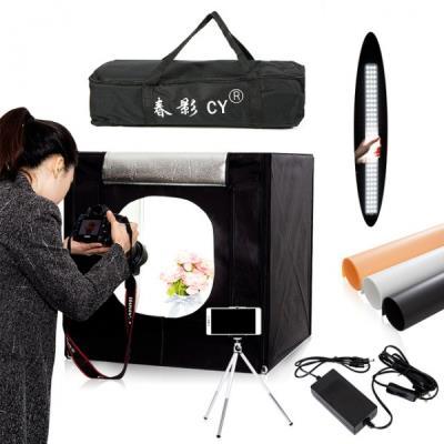 Işıklı Ürün Çekim Çadırı 50x50cm PRO Ledli Katlanabilir Çadır
