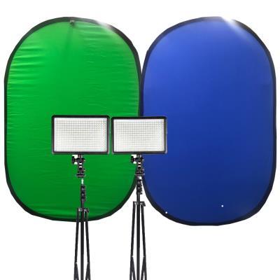 Chromakey 1.5x2m Katlanabilir Green Fon 5500KW Sürekli Video Işı