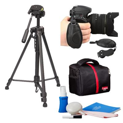 Canon 100D 200D İçin 147cm Tripod+Çanta+Temizleme Kiti+Ellık