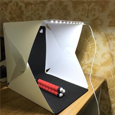 Portatif LED Ürün Çekim Çadırı 23x23cm 30x30 40x40 Stüdyo
