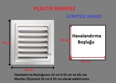 Plastik Menfez-Panjur 35x45 Ucuz-Kolay Montaj-Saglam Malzeme