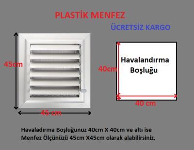 Plastik Menfez-Panjur 45x45 Ucuz-Kolay Montaj-Saglam Malzeme