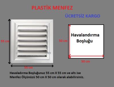 Plastik Menfez-Panjur 55x55 Ucuz-Kolay Montaj-Saglam Malzeme