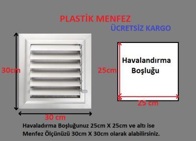 Plastik Menfez-Panjur 30x30 Ucuz-Kolay Montaj-Saglam Malzeme