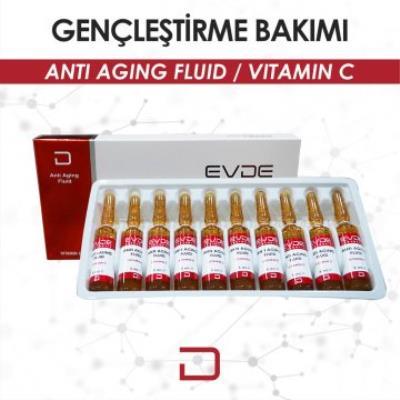 Evde Aesthetic Anti Aging (C Vitamini) 10 ADET 5 ML SERUMLAR