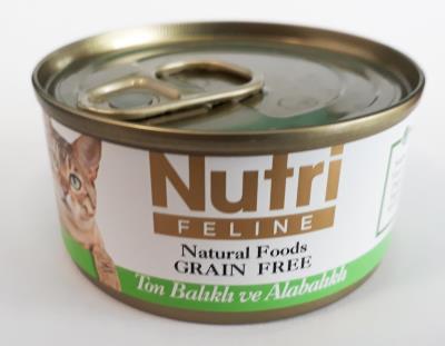 Nutri Tahılsız Ton Balık ve Alabalıklı Kedi Konservesi  - 85 gr