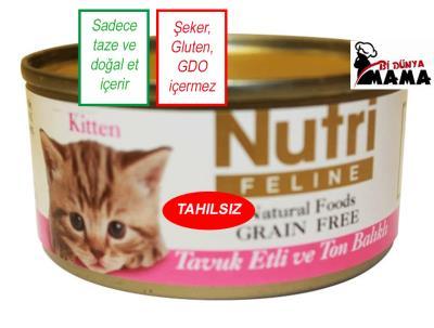 Nutri Feline Tavuklu ve Ton Balıklı Yavru Kedi Konservesi - 80 g