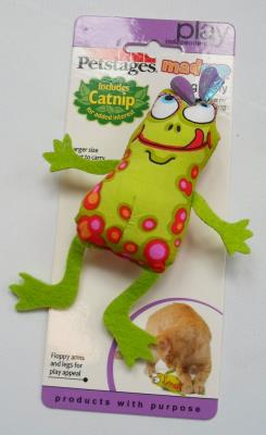 Petstages Madcap Frog And Fly Catnipli Kurbağa Kedi Oyuncağı