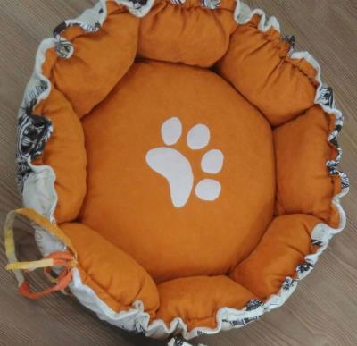 Özel tasarım 4 mevsim çift taraflı simit kedi köpek yatağı