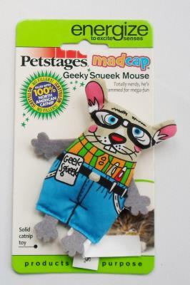 Petstages Madcap Geeky Mouse Catnipli Çılgın Fare Kedi Oyuncağı