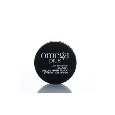 Omega Plus Black Aqua Hair Wax 4 Strong 150 ml