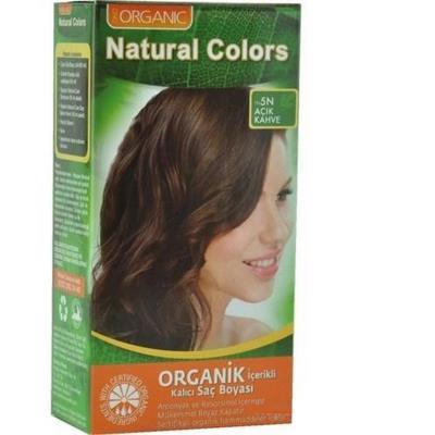 Organic Natural Colors Bitkisel Kalıcı Saç Boyası 5N Açık Kahve