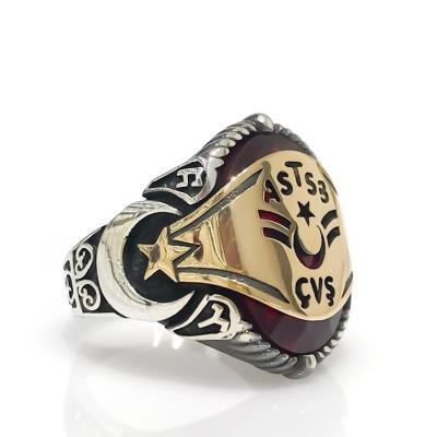 AstSubay Asker Devre Tasarım Gümüş Yüzük