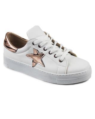 Beyaz Renk Günlük Bağcıklı Bayan Spor Ayakkabı