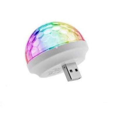rengarenk ışıklı sese duyarlı minik disko topu