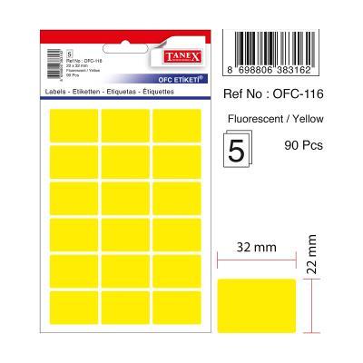 Tanex Etiket Ofc-116 Sarı