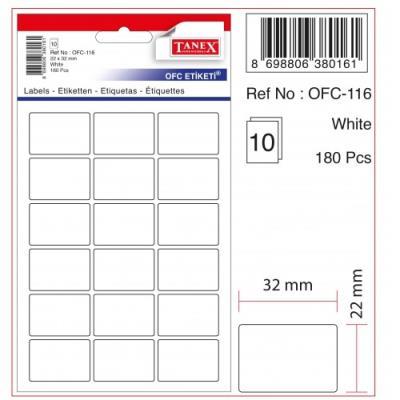 Tanex Etiket Ofc-116 22X32Mm 10 Lu