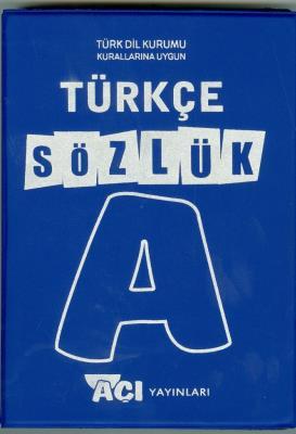Açı Türkçe Sözlük Plastik kapak