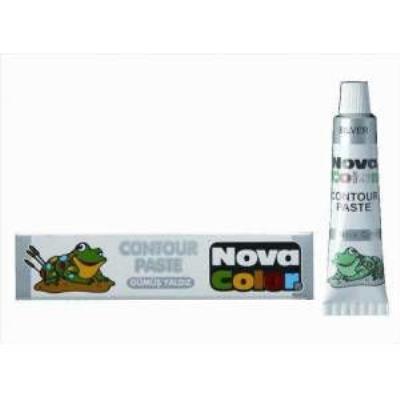 Nova Color Kontür Boya Gümüş Yaldız