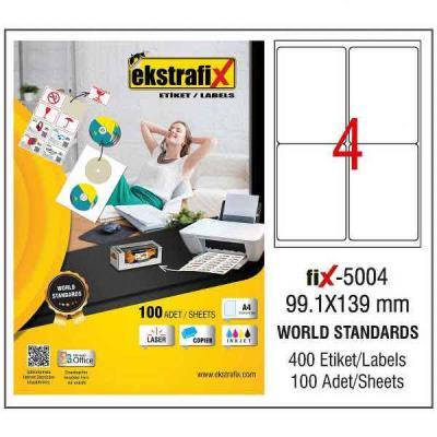 A4 Lazer Etiket 9,91cmX13,9cm 100 sayfa 400 etiket
