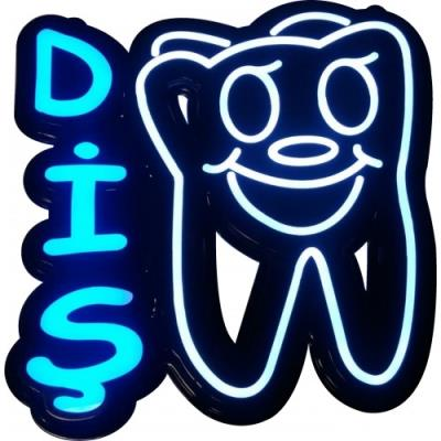 Dişçi Tabelası - Led Işıklı Diş Tabelası