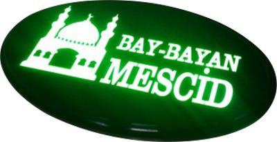 Mescit Led Işıklı Hazır Tabela - Bay Bayan Mescid Tabelası
