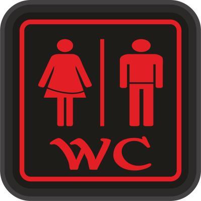 WC Tabela - WC Bay/Bayan - Led Işıklı Tabela