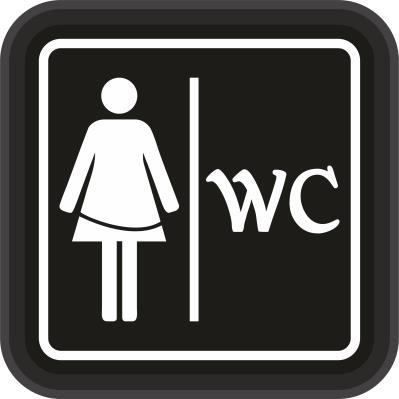 WC Tabela - WC Bayan - Led Işıklı Tabela