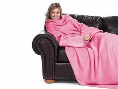 Giyilebilir Kollu Battaniye - Pembe