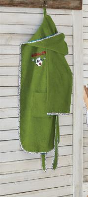 Ecocotton Organik Pamuk 7-8 Yaş Çocuk Bornoz - Funny Football Yeş