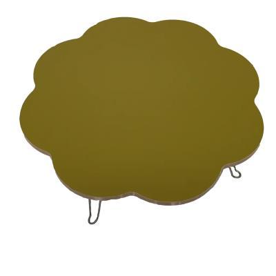 Veronya Yeşil Renkli Papatya Şekil Katlanır Ayaklı Yer Sofrası