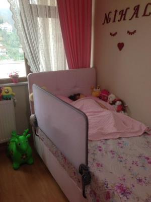 Katlanabilir Yatak Bariyeri - Desensiz Beyaz-90*72 Cm