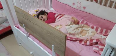 Agubugu Baby Ahşap Yatak Bariyeri  Ağaç Dokulu 80*45