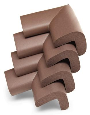 Rubber Corner Protector 4 Pieces - Brown