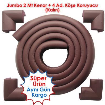 Jumbo Rubber 2Mt. Edge and 4 Ad. Corner Protector - Brown