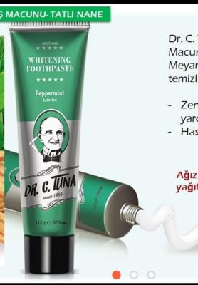 FARMASİ DR.C.TUNA WHITENING YATIŞTIRICI DİŞ MACUNU 100 G