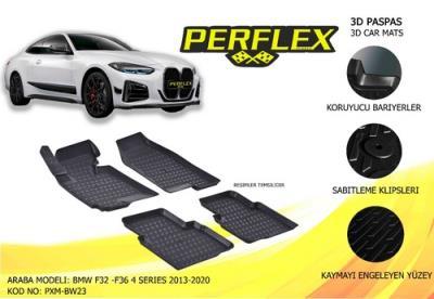 PASPAS 3D X-MAT HAVUZLU BMW F32 - F36 4 SERİSİ 13-20 SİYAH