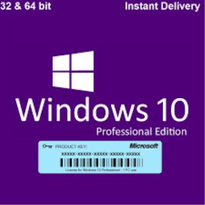 W10 Pro Lisans Key 32/64 bit Anında Teslim