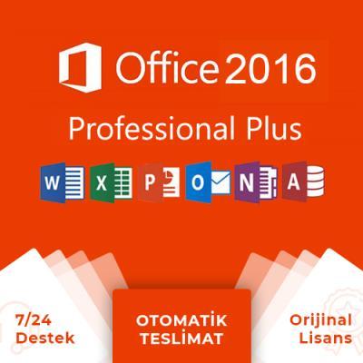 Office 2016 Pro Plus Lisans Anahtarı + Online Hemen Teslim